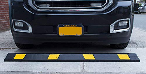 RK-BP72 Heavy Duty Rubber Parking Curb, Parking Block, 72 -inch for Car, Truck, RV and Trailer Stop Aid with 4-Piece Anchor Kit by RK (Image #3)