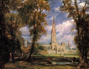 globalartdepot 16X20 inch Constable John Salisbury Cathedral 1823 HR Canvas Print