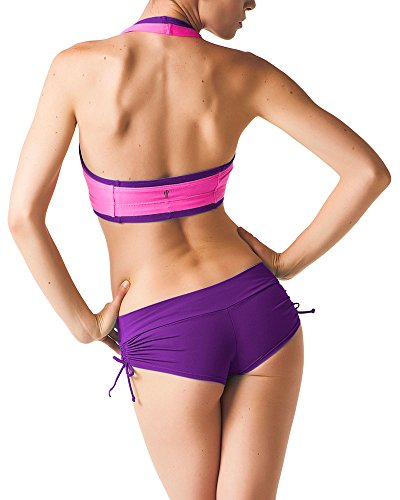 Pole Dance Short - Sexy Apparel for Dancing - Fitness Wear & Clothing for Woman (Medium, Purple)