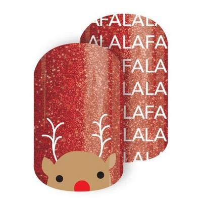 Rockin' Rudy - Jamberry Nail Wraps - HALF Sheet - Christmas Holiday Exclusive ()