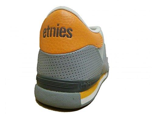 Etnies Skateboard Shoes Apex Arrow Grey/Orange/White