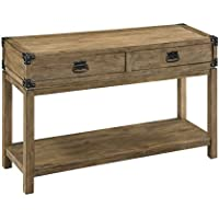 Treasure Trove Accents Two Drawer Console Table, 48 x 15 x 30, Natural