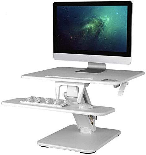 Linashop Sit Soporte de Escritorio Vertical Facil hasta Altura Ajustable for el Ordenador portatil de Escritorio con Soporte Teclado Plegable (Color : A)