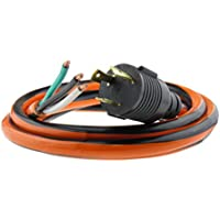 MPI Tools Nema L6-30P Generator Power Cord Whip 3 Wire 10 Gauge 125/250v 30 Amp 10 Foot Length