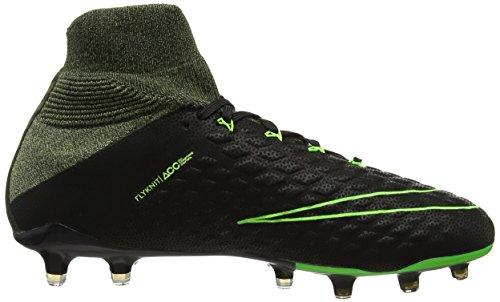 new concept cb2f0 ad7fb Nike Hypervenom Phantom III TC FG, Botas de fútbol para Hombre, Negro  (Black Electric Sq-PLM Green), 44.5 EU  Amazon.es  Zapatos y complementos