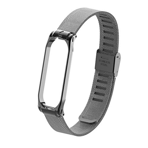 T-BLUER Xiaomi Mi Band 4/Mi Band 3 Band,Replacement Bracelet Metal Stainless Steel Strap Wristband Accessories for Xiaomi MiBand 4/MiBand 3