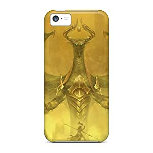 Awesome Dragon Wizard Flip Case With Fashion Design For Iphone 5c