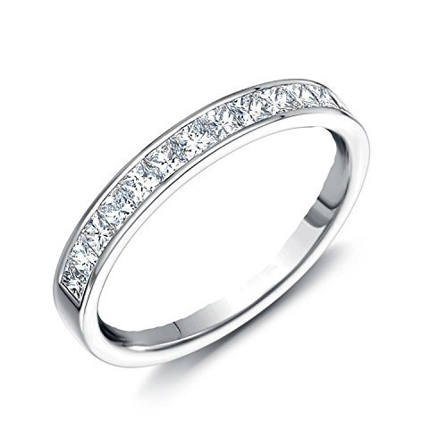 Sreema London 2mm Cz Crystals Eternity Ring Style White Gold Look Sterling Silver Q by Sreema London