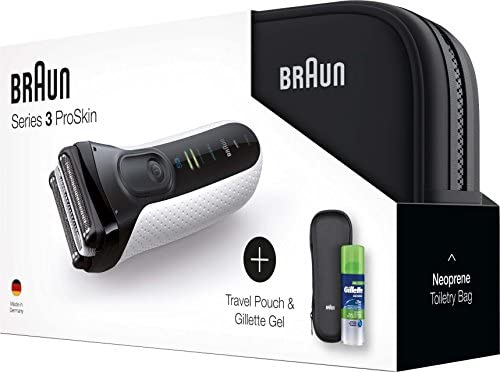 Braun Series 3 ProSkin 3040s - Afeitadora (Máquina de afeitar de láminas, Blanco, LED, AC/Batería, 5 min, 1,45 h): Amazon.es: Hogar