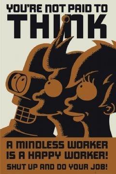 Futurama Don't Think 24x36 Poster ()