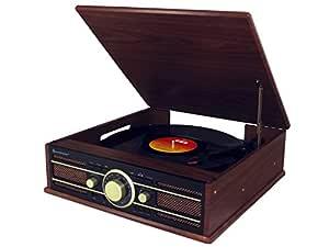 Soundmaster PL550BR Marrón tocadisco: Amazon.es: Electrónica