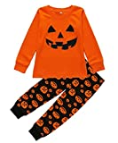 Boys Halloween Pajamas Pumpkin Costume Toddler Cotton Pjs 2 Piece Kids Sleepwear 2T-7T (Style 3, 2-3 Years/3T)