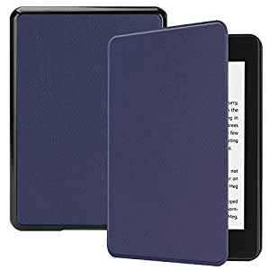 Kindle Paperwhite 2018 Case, Luxury Genuine Leather Case with Viewing Stand, Flip Cover Handmade for Kindle Paperwhite 2018 (Dark Blue)