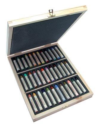 Sennelier Oil Pastel 36 Plein Air Wood Box by Sennelier