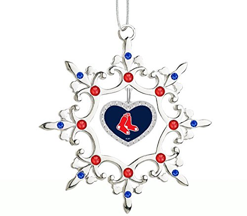 (Final Touch Gifts Boston Red Sox Rhinestone Heart Christmas Ornament)