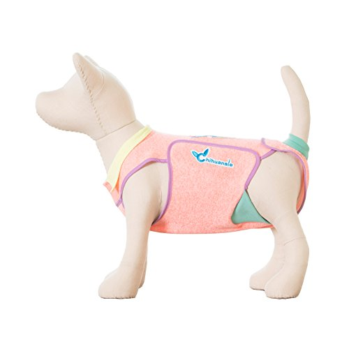 Chihuansie Bark Deco Full-Body Dog Diaper Onesie Designed for Small Dogs to Hygienically Absorb and Contain Urine (Medium)
