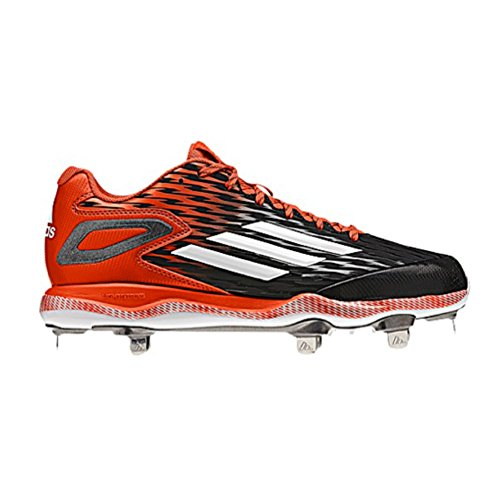 Adidas Poweralley 3 Mens Baseball Tacchetto Nero-bianco-arancio