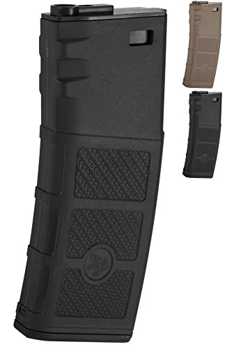 M16 Cap Gun - Evike G&P High RPS 130rd Polymer Mid-CAP Magazine for M4 M16 Airsoft AEG Rifles - Black - (42511)