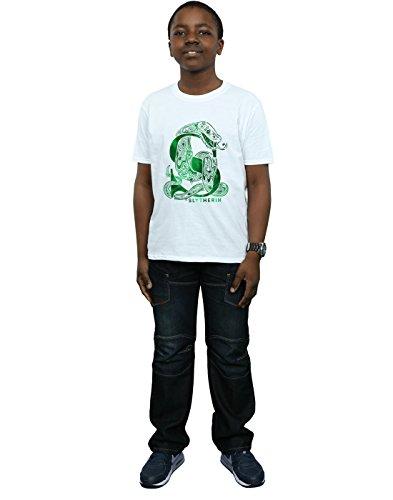 Boy Harry Camiseta Potter blanca Snake Slytherin B780q8w