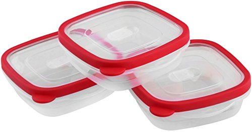 Food Storage Container - (710ml) - Red (3-Pac...