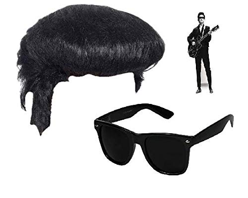 4daeabf5f67c Silver C Roy Orbison Wig And Glasses Fancy Dress Hippy 60's 70's Costume  Roy Orrbison Roy Orbisson Costume Outfit Only The Lonely Pretty Woman  Spectacles ...
