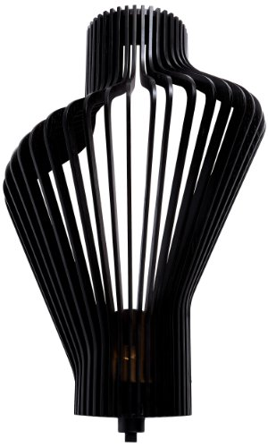 Woodbridge Lighting 14041BLKLE-W1A4WG Canopy Collection 1-Light LED Energy Saving Wall Sconce, 13.75-Inch x 21.5-Inch x 7-inch, Escher Wenge Wood -