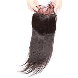 Beata Hair Top Closure Brazilian Straight Lace Closure Human Hair Free Part with Baby Hair (10inch)
