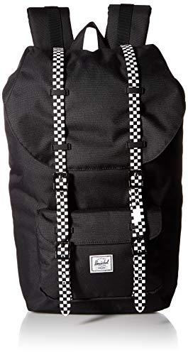 - Herschel Little America Backpack, Black/Checkerboard, One Size