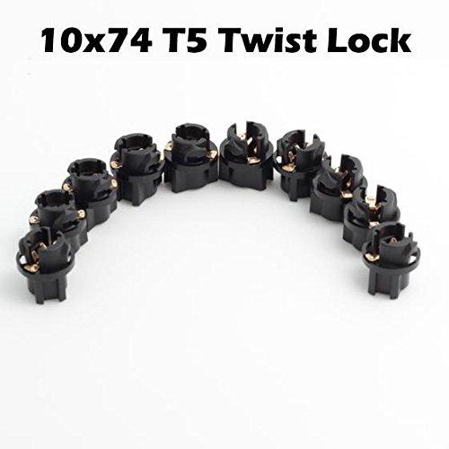 Partsam 10pcs T5 Twist Socket For Instrument Panel Cluster Plug Lamp Dash Light Bulb 58 70 73 74 (Subaru Spark Plug Socket compare prices)