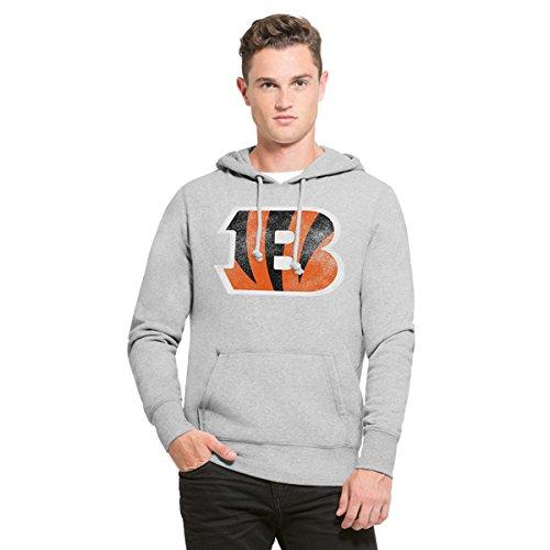 ('47 NFL Cincinnati Bengals Men's Knockaround Headline Pullover Hoodie, X-Large, Slate Grey)