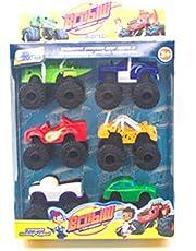Leksaksbil 6st/lot Monstermaskiner Ryssland Kid Toys Blaze Miracle Cars Blaze Fordonsbilleksaker med originalbox Bästa gåvor - Flerfärgad