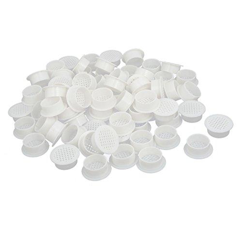 uxcell Shoes Cabinet 35mm Plastic Square Mesh Hole Air Vent Louver Cover White 100pcs