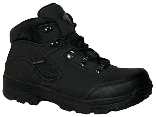 Ladies Walking/Hiking Boot, tormenta totalmente impermeable Lace Up Piel/Nailon superior negro