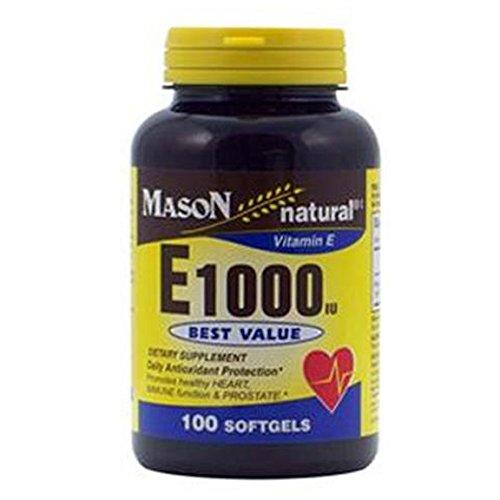MASON NATURAL - Special - E-1000 DL-ALPHA SOFTGELS 50 per bottle 50 per bottle (SINGLE BOTTLE)