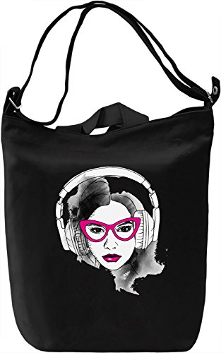 Sexy Girl With Glasses Borsa Giornaliera Canvas Canvas Day Bag| 100% Premium Cotton Canvas| DTG Printing|