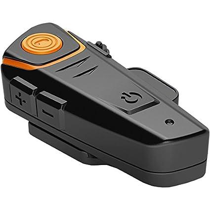 2 pi/èces 1000m Bluetooth Headset Interphone Moto Universal Waterproof Headphone pour 2 ou 3 pilotes et audio pour Walkie Talkie GPS MP3 Player,mains libres et radio FM