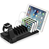 Juicy Power USB Charging Station 10 Port 90W 2.4A Compatible with Apple Watch Stand - USB Power Hub with Type-C Charging Organizer, Fast & Smart Charging Cables NOT Included