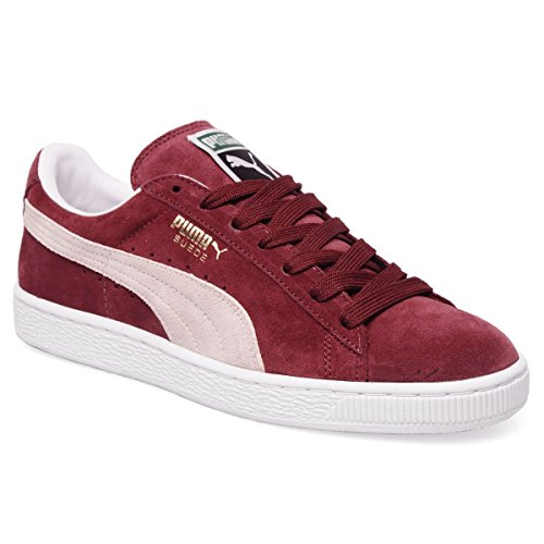 Puma Suede Classic+, Chaussons Sneaker Adulte Mixte Rouge - Red (Ribbon Red/Puma)