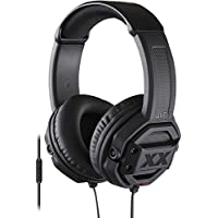 JVC Over-Ear Headphones with Mic and Remote, Dual Extreme Bass, Black, HA-MR60X (Non-Retail Packaging)