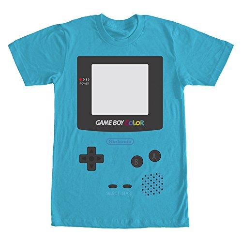 Fifth Sun Nintendo Men's Game Boy Color Turquoise T-Shirt