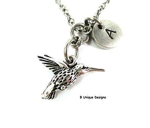 b12523d748b80 Amazon.com: Hummingbird Garden Charm Necklace Gardener Gift Bird ...