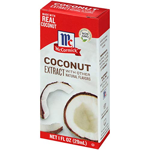 McCormick Coconut Extract With Other Natural Flavors, 1 Fl Oz, Pack of 6