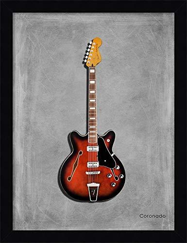Canvas Art Framed 'Fender Coronado' by Mark Rogan