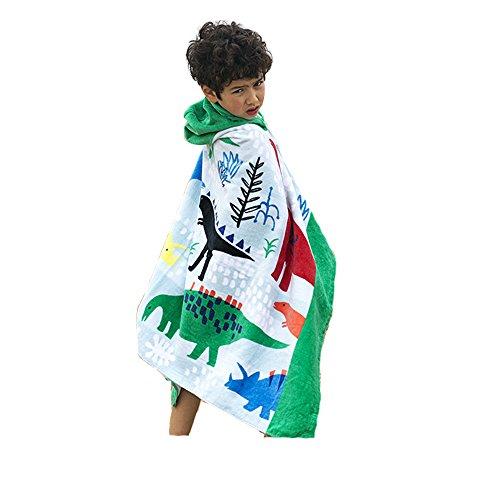 AteAte Cute Cartoon Baby Kid's Hooded Bath Towel Toddler Boy Girls Beach Towel New 100% Cotton 400 GSM(Dinosaur) by AteAte