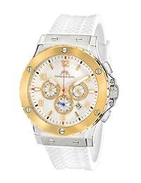 Porsamo Bleu Marcus Silicone Silver Tone, Gold Tone & White Men's Watch 653BMAR