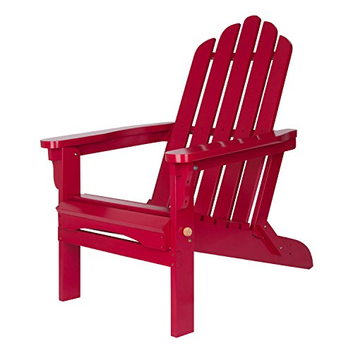 Shine Company Marina Adirondack Folding Chair, Chili (Classic Cedar Adirondack Chair)