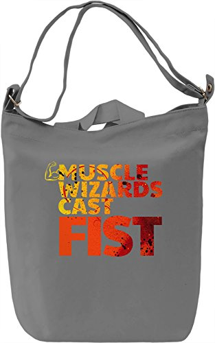 Muscle Wizards Cast Fist Borsa Giornaliera Canvas Canvas Day Bag| 100% Premium Cotton Canvas| DTG Printing|
