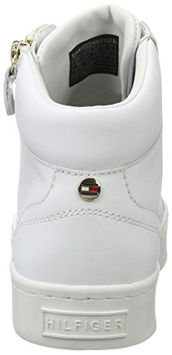 White 1a1 J1285upiter Hilfiger Sneakers Low Women's Tommy Top 7xpHW