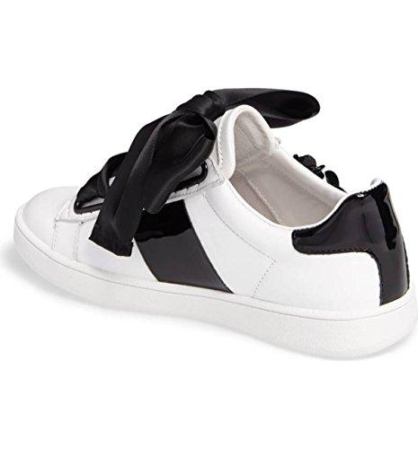 Jeffrey Campbell Pabst Flower Black White Oversized Big Bow Low-Top Sneaker 9JzjgnaF3