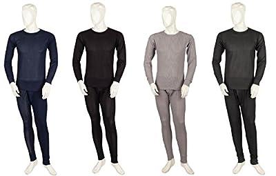 Mens 2 pc Long Thermal Underwear Set - Cotton Blend